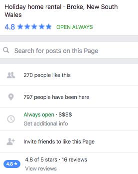 Pagina de Facebook para alquileres vacacionales 5
