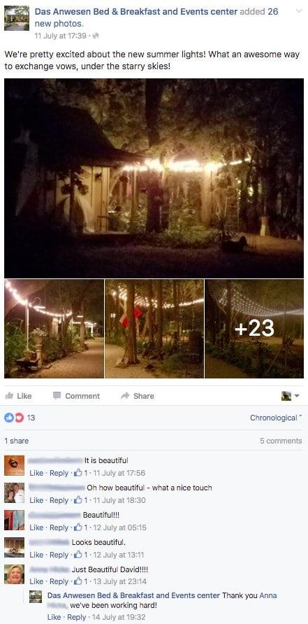 Pagina de Facebook para alquileres vacacionales 4