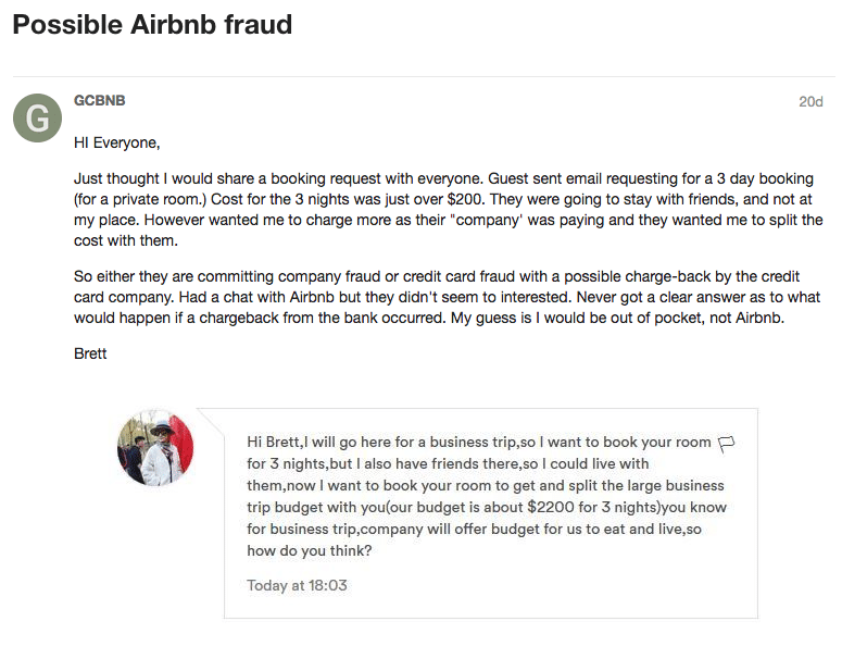 airbnb guest scam