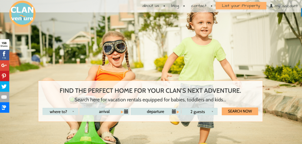 Vacation Rental Websites Clanventure