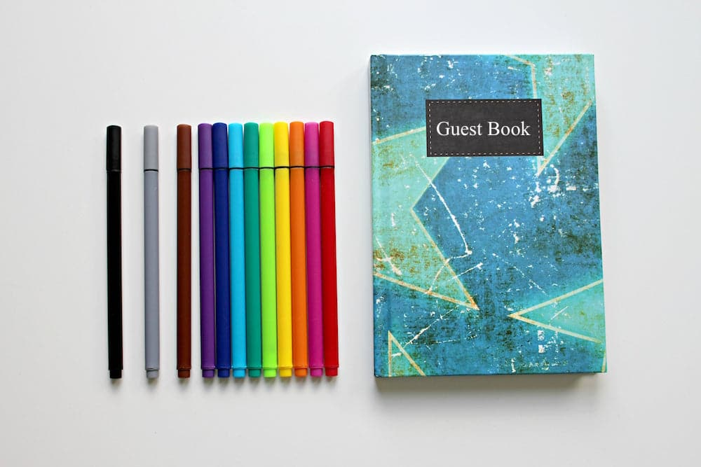 vacation rental guest book ideas