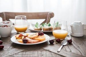 Desayuno en vivienda de uso turístico