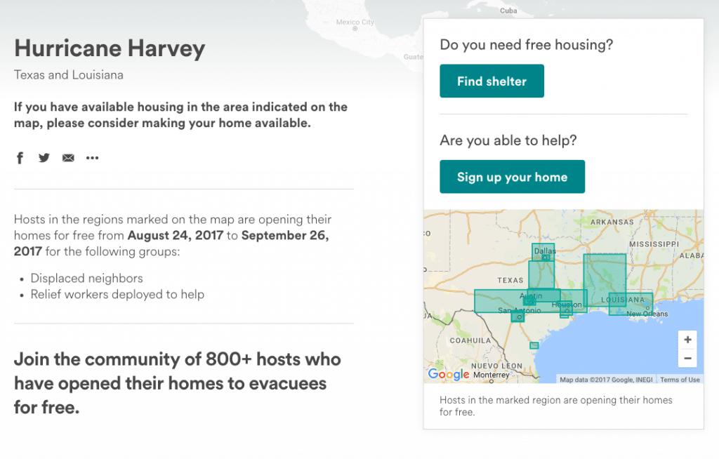 airbnb disaster response
