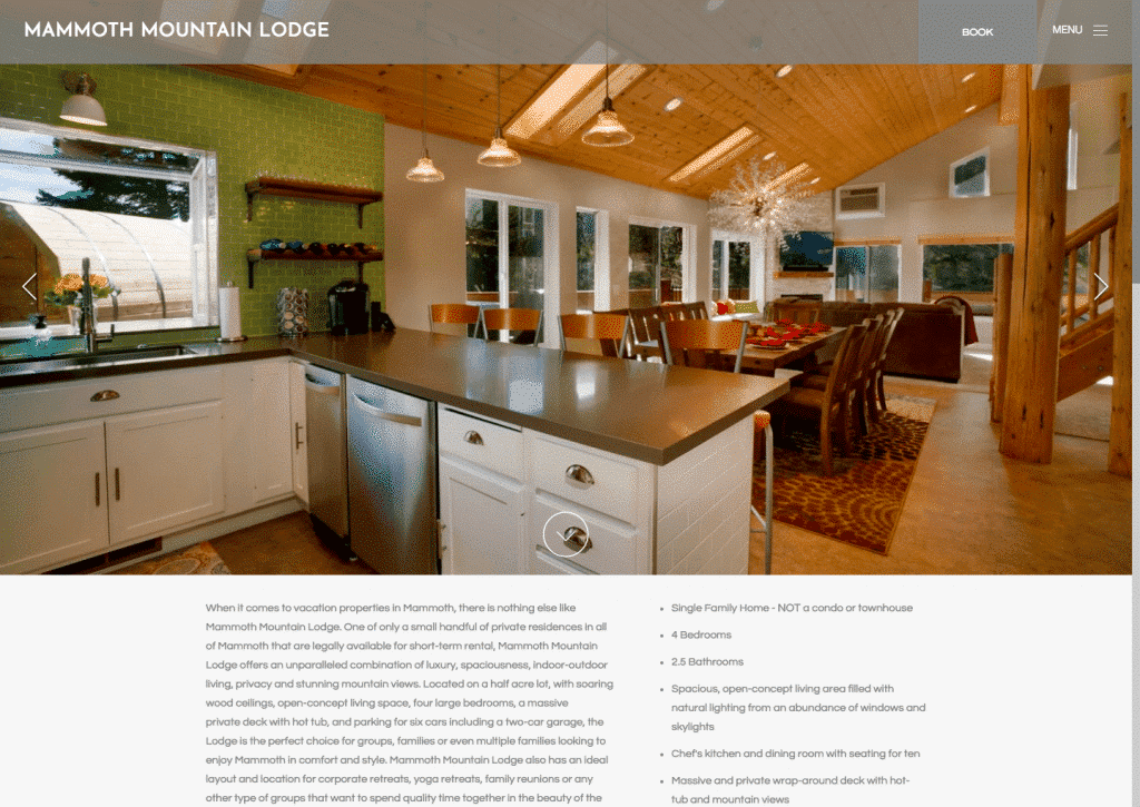 Popping Color Accents, Modern Lighting Designs And An Invitingly Spacious  Feel Is A Winning Combination In This Photo From Mammoth Mountain Lodgeu0027s  Homepage ...