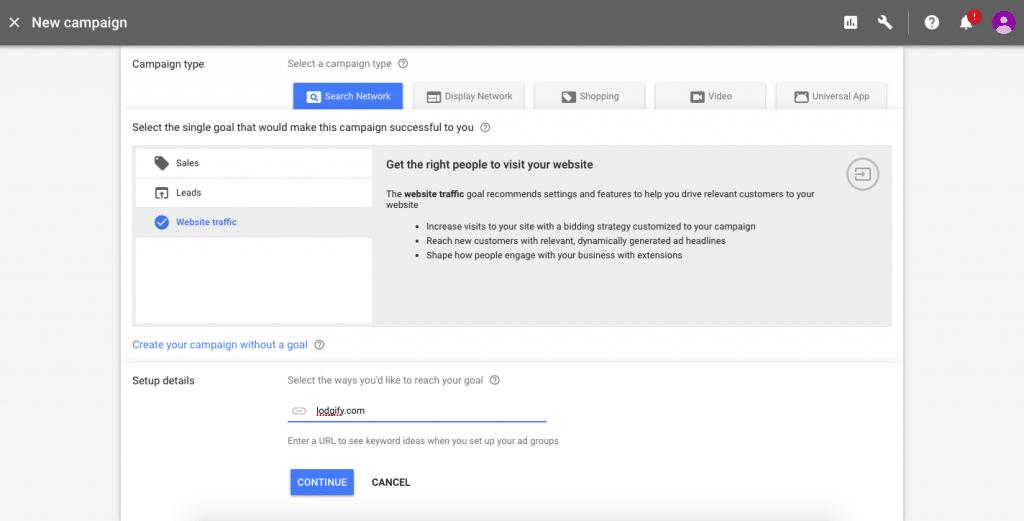 Google AdWords Tutorial URL