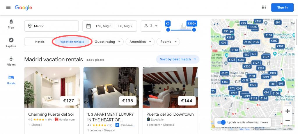 List your properties on Google Vacation Rentals