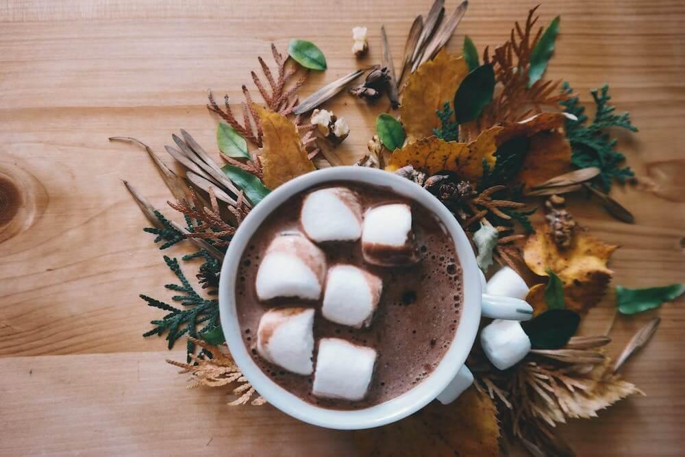 Chocolate caliente en pack de bienvenida