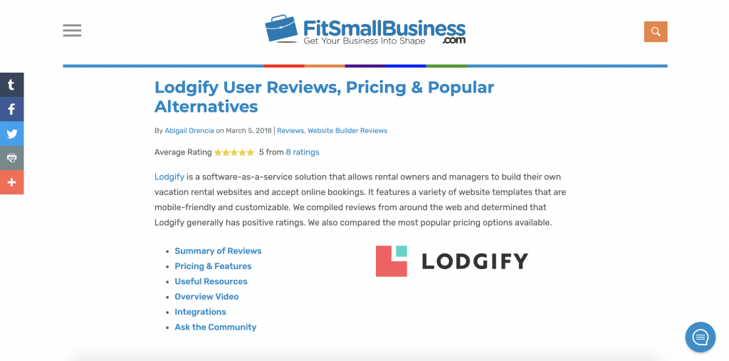 Fitsmallbusiness Lodgify reviews