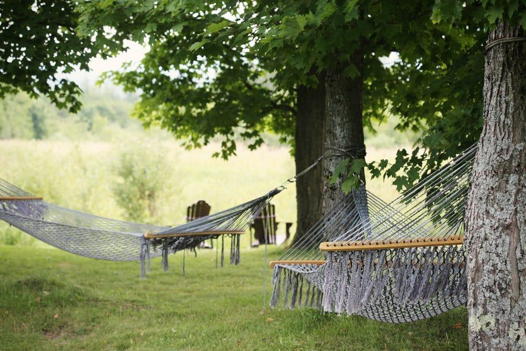 Hängematte als Außenausstattung für die Ferienwohnung