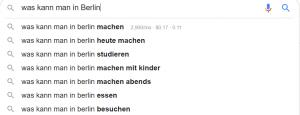 Autocomplete Google für zusätzliche Ideen