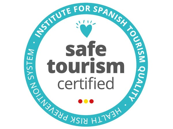 """Spaniens Abzeichen """"Safe Tourism certified"""" in Bezug auf den Coronavirus"""