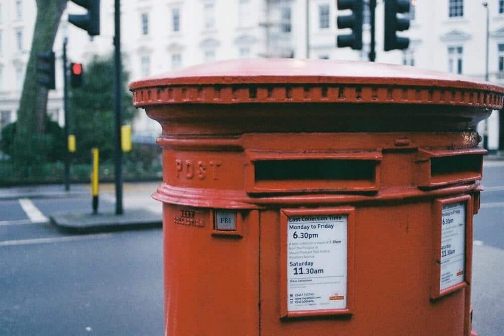 enviar el registro por correo postal