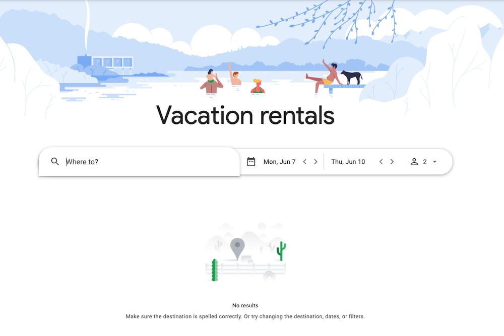 Google vacation home rentals