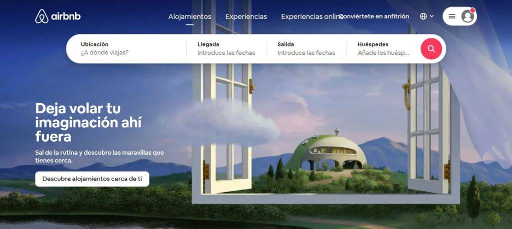 plataforma de alquiler vacacional airbnb