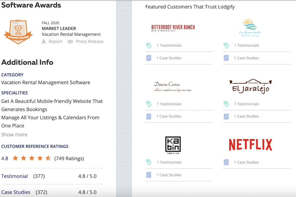 Featured Customers Lodgify Review
