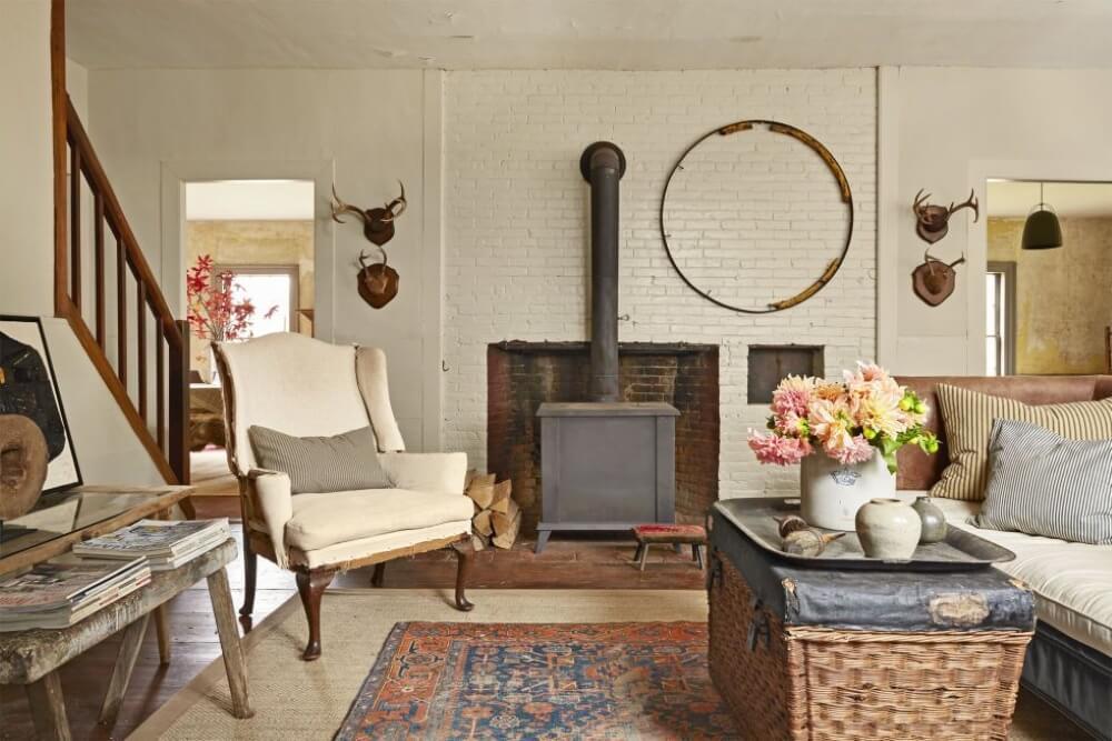 salón rústico de una casa rural