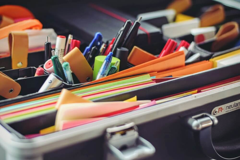 office supplies in a vacation rental