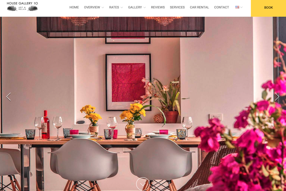 Website examples for vacation rentals