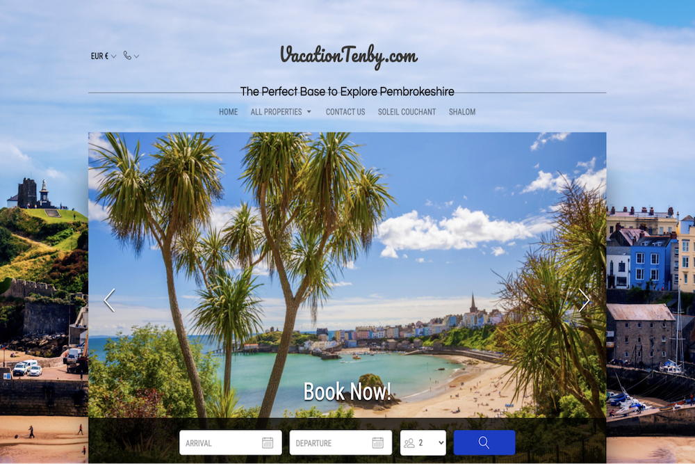 Website examples short term rental