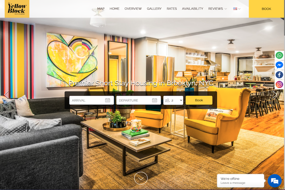 Best short term rental website designs