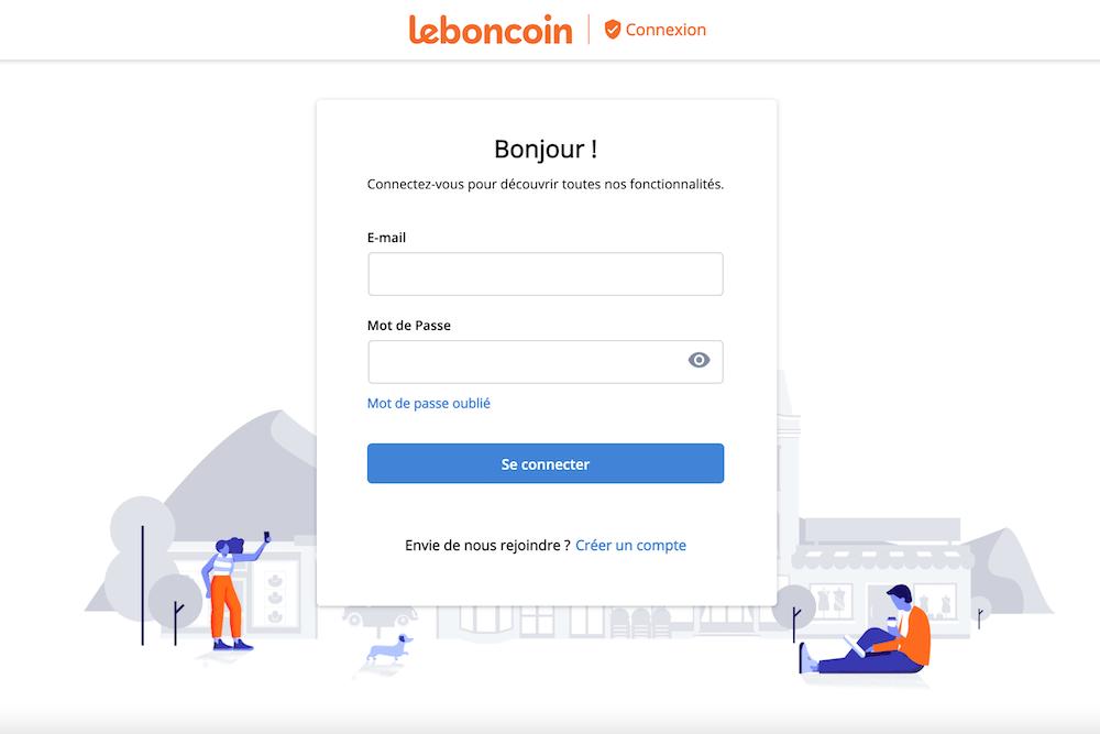 Connexion Leboncoin pour les propriétaires