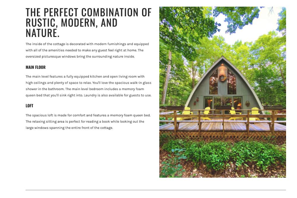 Beechwood Cottage Lodgify website