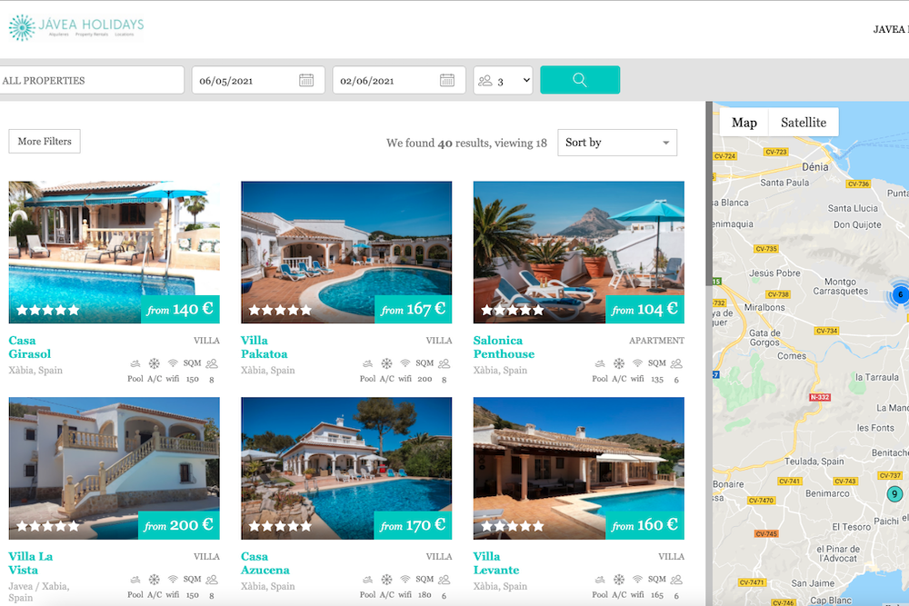 Booking widget for short term rentals