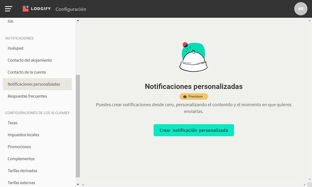 Notificaciones personalizadas de Lodgify