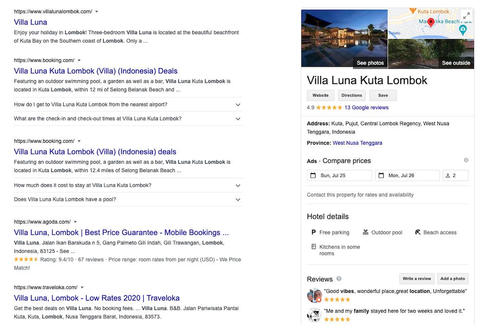 Villa Luna Lombok
