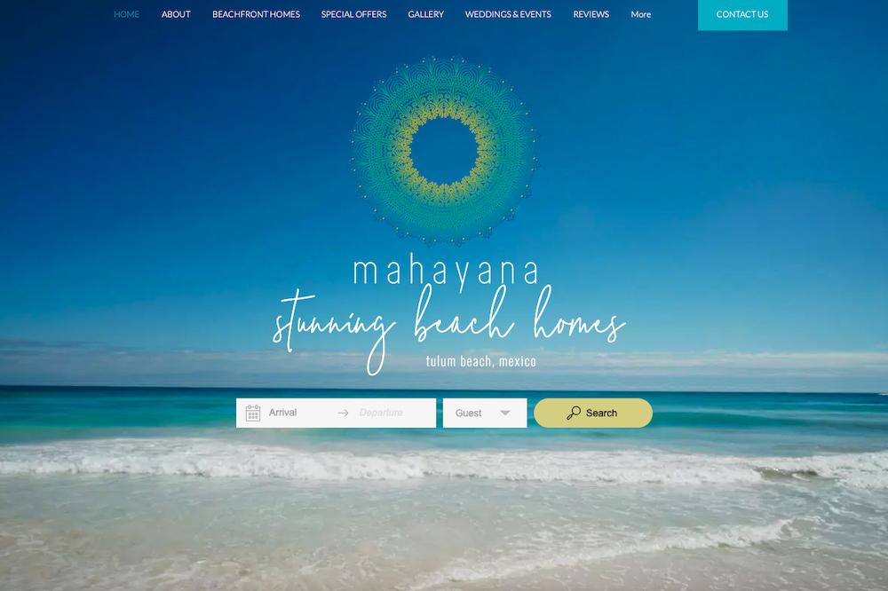 Botón de búsqueda de Lodgify en Mahayana Tulum