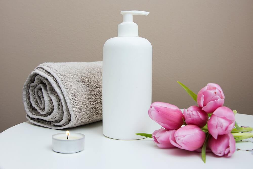 Travel size toiletries for vacation rentals