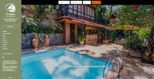 Lodgify Website Example B&B O Veleiro