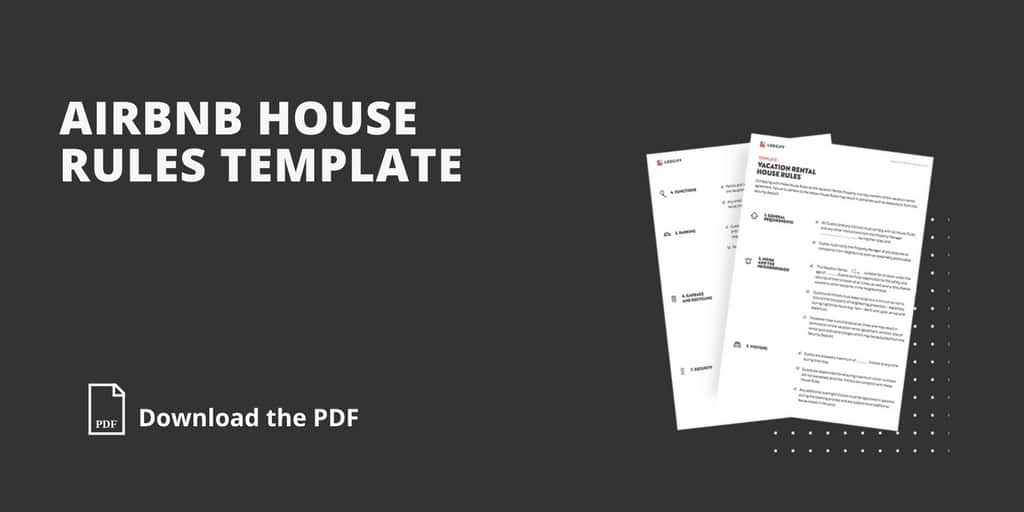 rental house rules template