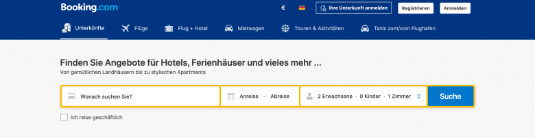 wie funktioniert booking.com